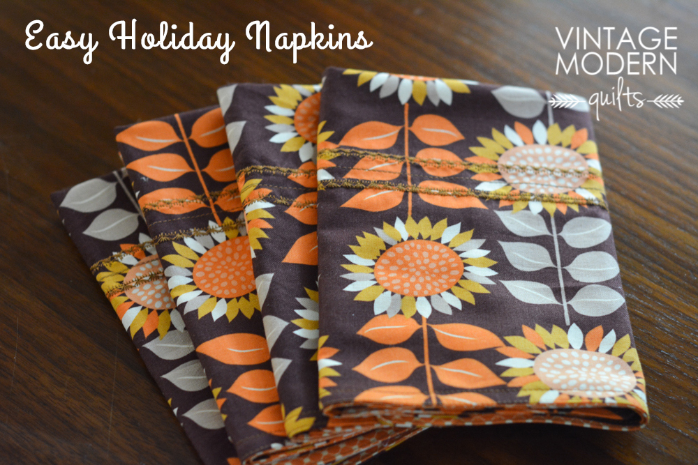 Tutorial: Simple Holiday Napkins