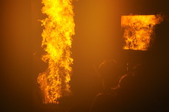 yellow, gas flare, fire, flame, explosion,