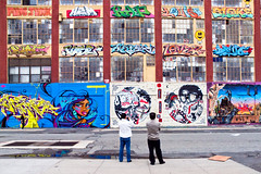 Visitors from Seoul at the 5 Pointz graffiti art building in Long Island City
