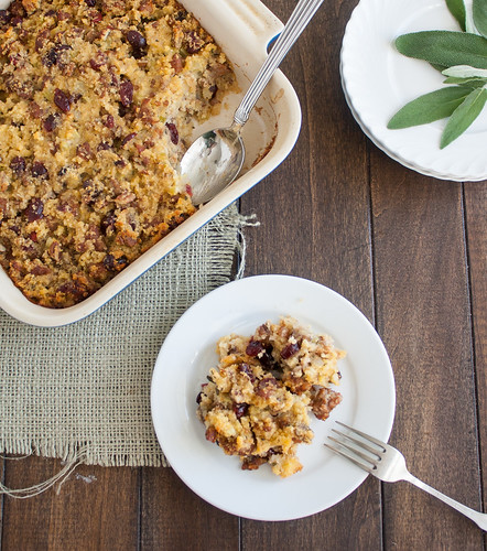 Sausage, Cranberry, and Cornbread Stuffing