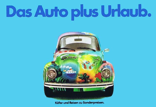 GGK (Düsseldorf, DE) Schirner (Michael, DE - CD) 1975 Das Auto plus Urlaub (Volkswagen AG Wolfsburg) Plakat 18-1