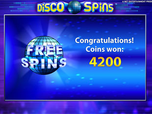 Disco Spins free games prize