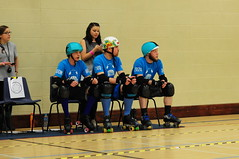 Super Smash Brollers jammer and blockers filling their penalty box