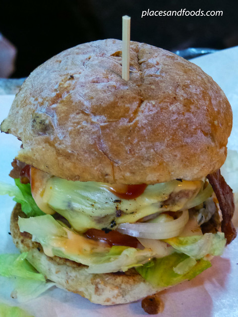dayumm complete pork burger