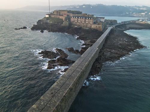 kite castle sunrise kevin aerial kap guernsey breakwater cornet lajoie kevinlajoie