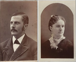 William and Grace Eames Dennis (CDV's Smith & Bousley, 214 Essex Street, and A.B. Cross, 256 Essex Street, Salem, Massachusetts)