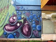 Aubergine mural