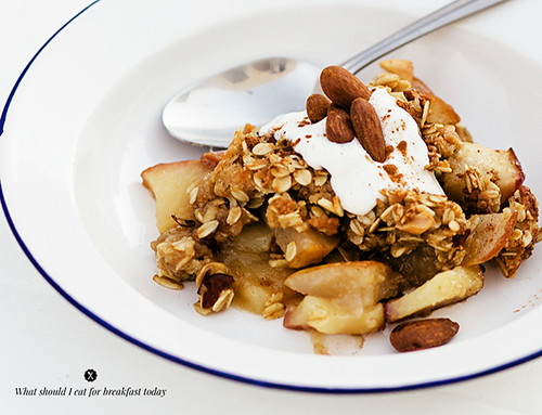 Apple breakfast crisp