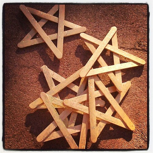 #stars #waldorf #Solstice #Yule #homemade #wood #crafts