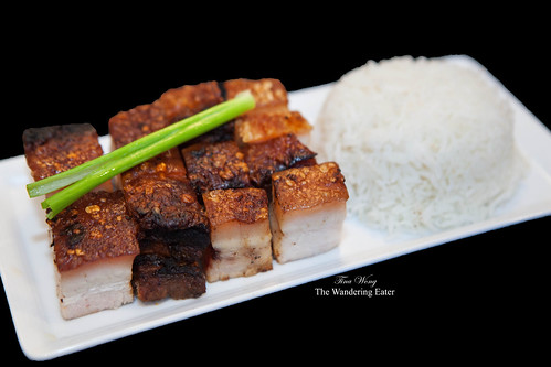 Homemade Chinese crispy roast pork belly