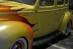 automobile, automotive exterior, yellow, wheel, vehicle, custom car, automotive design, mid-size car, hot rod, antique car, vintage car, land vehicle, motor vehicle, classic,