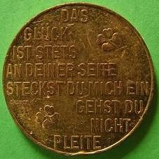 1982 Prosit Neujahr token reverse