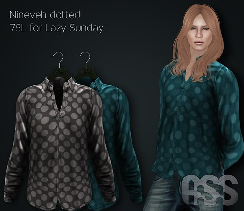 A:S:S - Nineveh silk shirts - dotted for Lazy Sunday by Pho Vinternatt