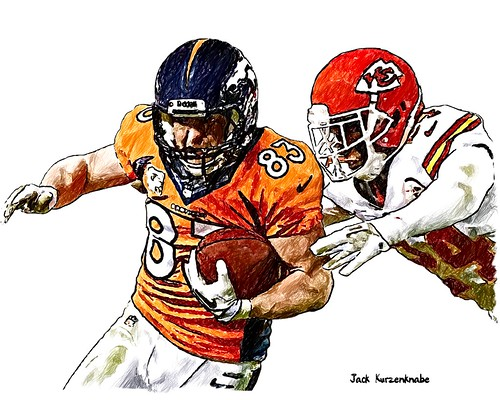 Denver Broncos Wes Welker - Kansas City Chiefs Brandon Flowers
