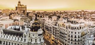 El hotel ofrece unas magníficas vistas de Madrid.