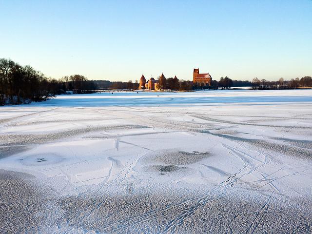 Trakų pilis žiemą 2