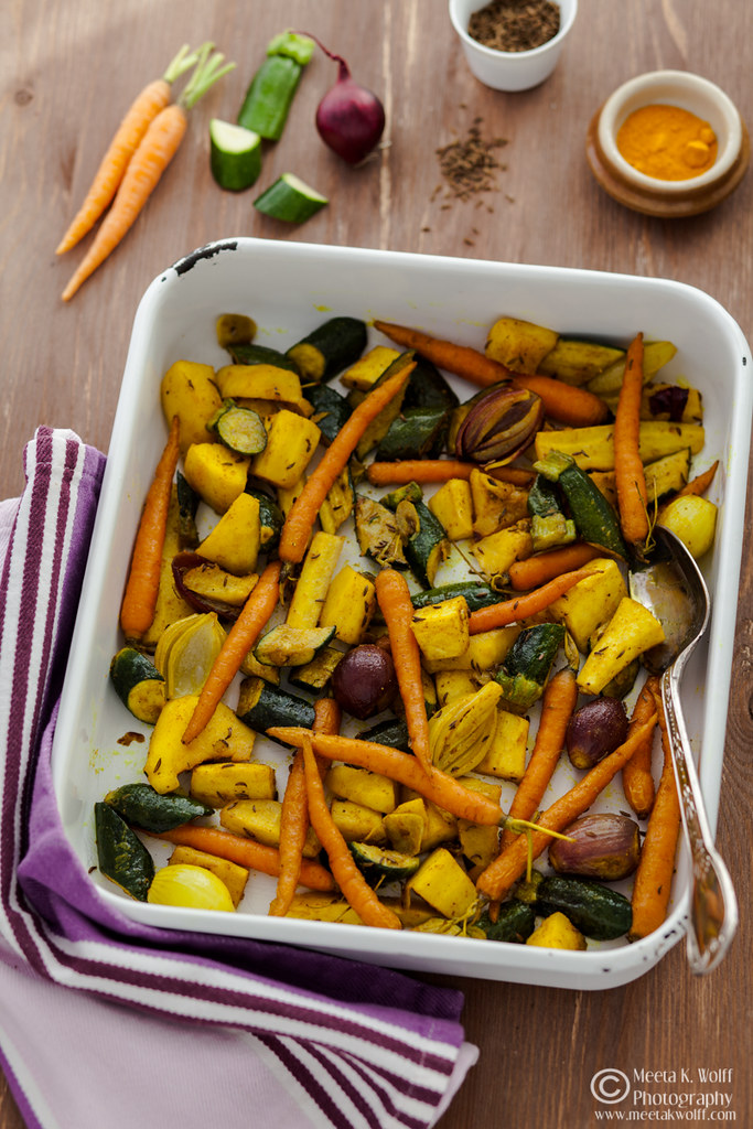 Turmeric Slow Roasted Veggies Couscous Pilaf 0030