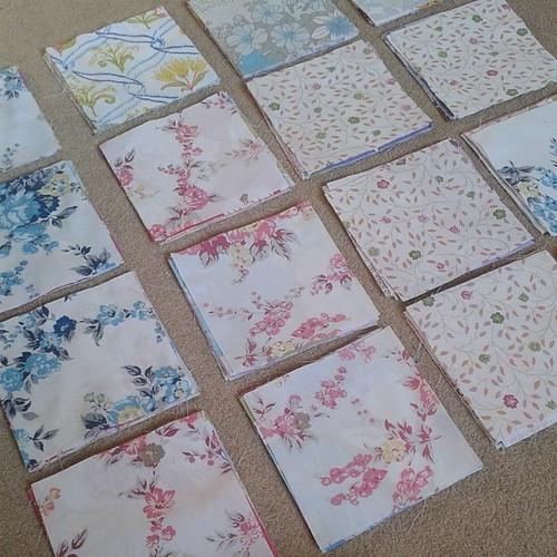 Planning Mum's quilt