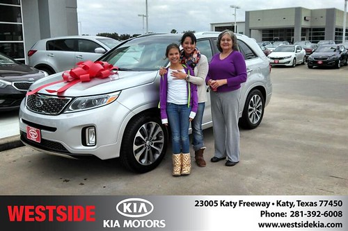Thank you to Felina Gennusa on your new 2014 #Kia #Sorento from Gil Guzman and everyone at Westside Kia! #NewCar by Westside KIA