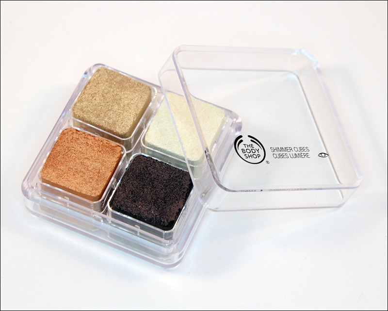 The Body Shop 30 brown shimmer cubes
