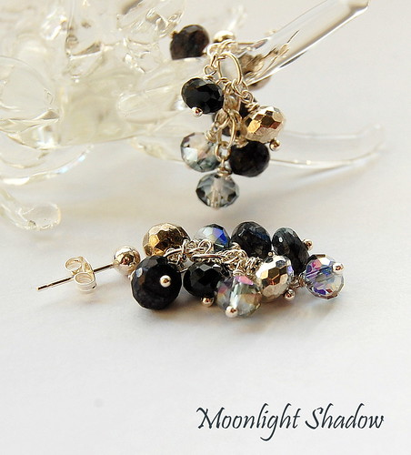 Moonlight Shadow Earrings by gemwaithnia