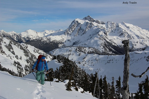 Snow Search.  Mt Baker Backcountry. skier Mike Traslin. photo Andy Traslin