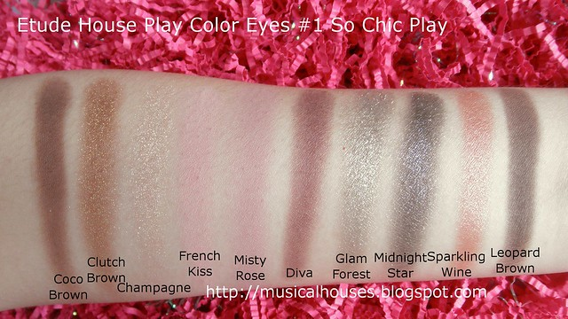 Etude House Play Color Eyes Palettes Swatches So Chic Play 2