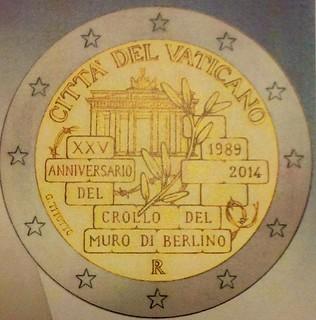 2014 Vatican 2 Euro Coin Design