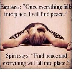 Yep.  #truth #ego #flesh #pride #walkinthespirit #peace