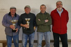 22/02/2014 - Plougasnou : Les finalistes du concours de boules plombées en doublettes formées