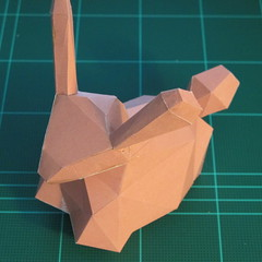 วิธีทำโมเดลกระดาษเรขาคณิตรูปกระต่าย (Rabbit Geometric Papercraft Model) 025
