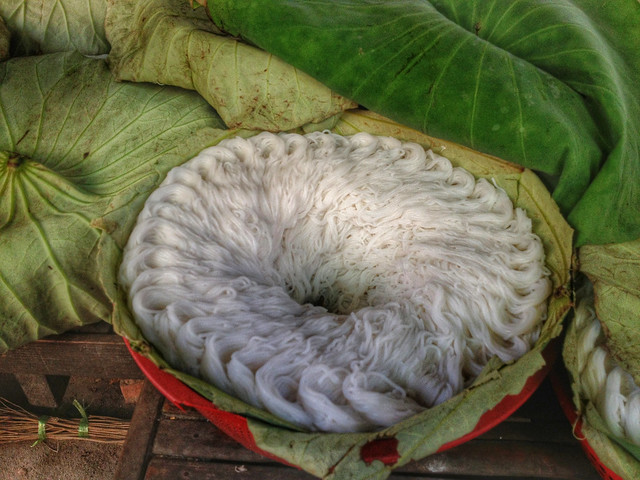 Rice noodles in Cambodia