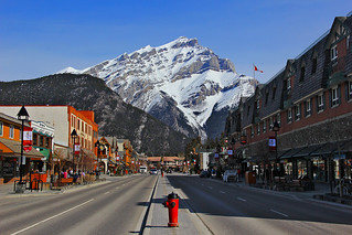 Banff Avenue & Mount Cascade