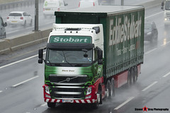 Volvo FH 6x2 Tractor with 3 Axle Curtainside Trailer - PX60 CMF - H4540 - Ellexie Grace - Eddie Stobart - M1 J10 Luton - Steven Gray - IMG_6939