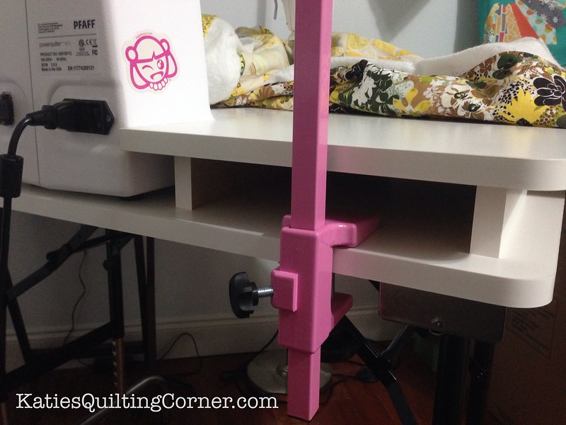 Eliminate drag while free motion quilting