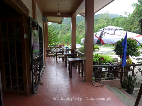 The seats outside at Seagull Coffee Shop at Lorega, Kitaotao, Bukidnon