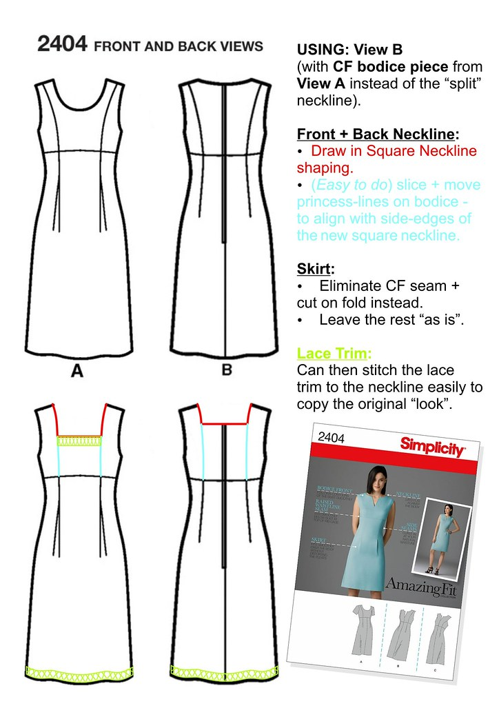 Simplicity 2404 - Pattern Hack (Athena Tennis Dress Homage)