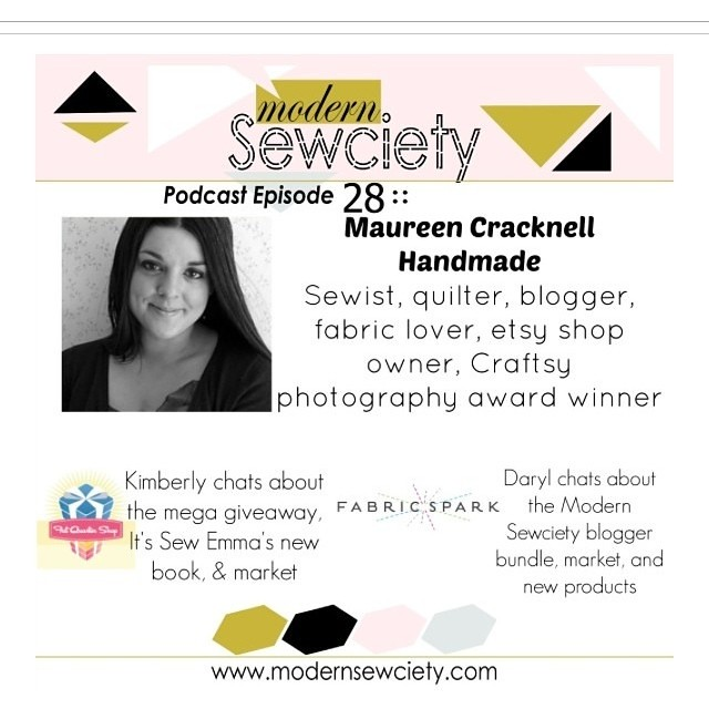 @modernsewciety is sharing our recent chat today! It was so much fun and such a treat to talk about my passion for quilting and blogging! Check out episode 028 including @fatquartershop @fabricspark & me!