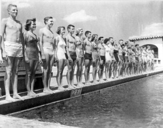 Fort Lauderdale's city swim team by the pool - Fort Lauderdale