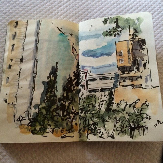 #benidorm #urbansketch #pentel #watercolor #tombow