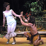 Arvada Center Tarzan pictured L-R Jennifer Lorae (Jane), Brian Ogilvie (Tarzan) photo P. Switzer 2014 -