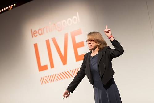 Cathy Moore during her Keynote at Learning Pool Live 2016