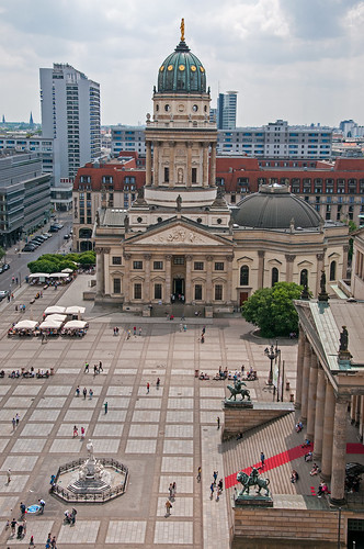 Neue Kirche seen from the French Cathedral, Berlin