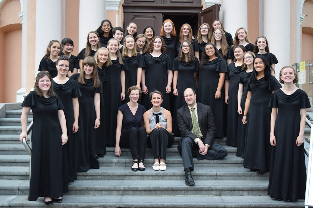 Seattle Girls' Choir in front of St. Casimir's Church in Vilnius, Lithuania