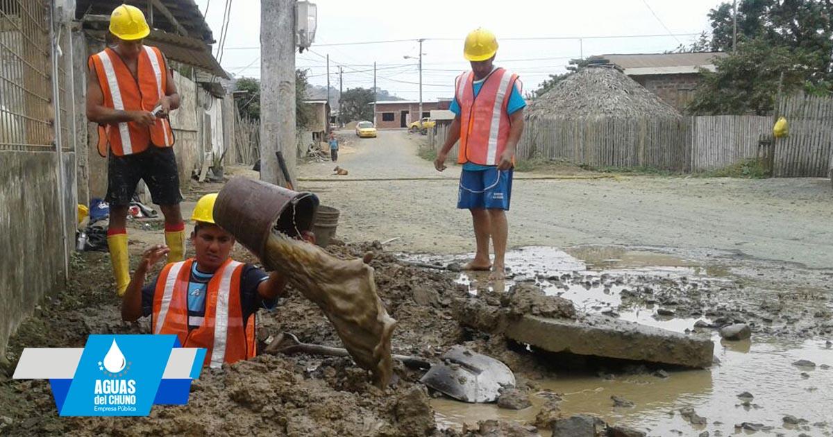 Aguas del Chuno realiza varios trabajos