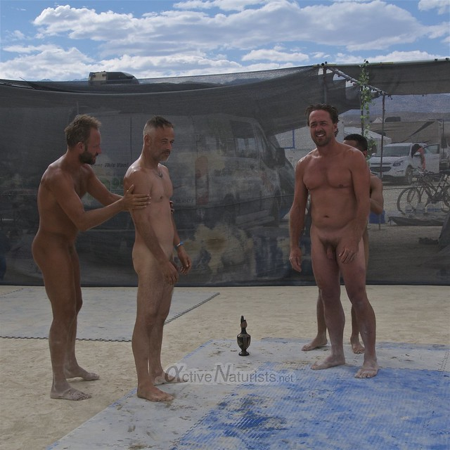 naturist wrestling camp Gymnasium 0034 Burning Man, Black Rock City, NV, USA