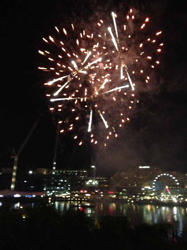 Jugan, Ashleigh; Sydney, Australia - A Good Way to End a Stressful Week - Fireworks