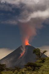 Volcán de Colima en México