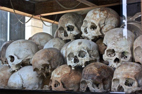 skulls of exhumed victims