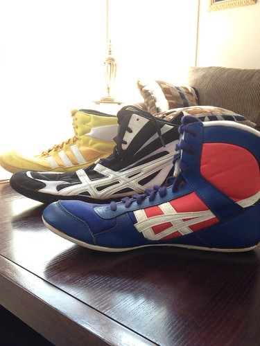 Vintage Wrestling Shoes by elam.zach